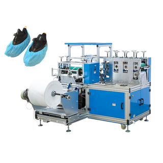 Automatic plastic shoe cover making machine